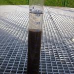 Nakon 20 minuta taloženja, voda na samom vrhu je pročišćena